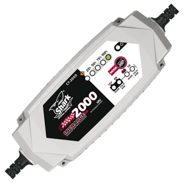shark 2000 motorrad atv quad batterie ladeger t 12v 8. Black Bedroom Furniture Sets. Home Design Ideas