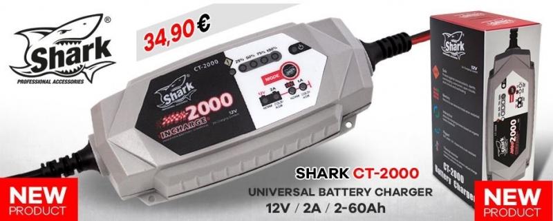 shark 2000 auto motorrad atv quad batterie ladeger t 12v 4. Black Bedroom Furniture Sets. Home Design Ideas